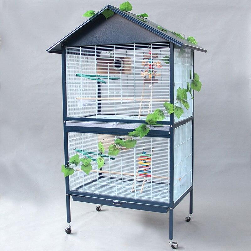 Desain Atap Besi Logam Besar Parrot Cage dengan Roda ...