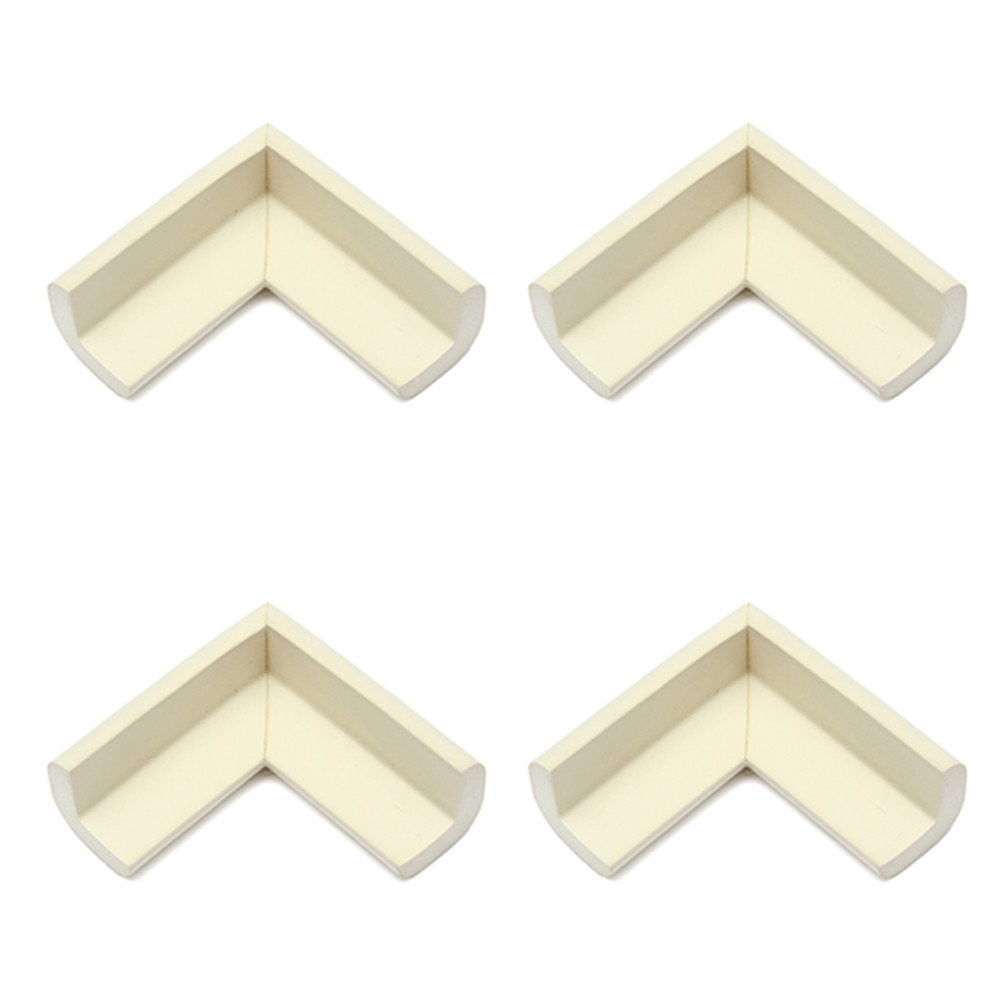 4pcs Baby Safety Table Edge Cover Corner Protector Cushion White