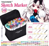 TOUCHNEW 30 40 60 80 168 Colors Markers Pen Art Marker Set Dual Headed Alcohol Based