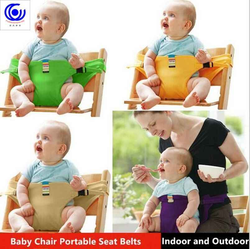 Baby Feeding Chair Portable Infant Booster Seats Toddlers Children seat BB eating feeding safety long belt  bed accessories