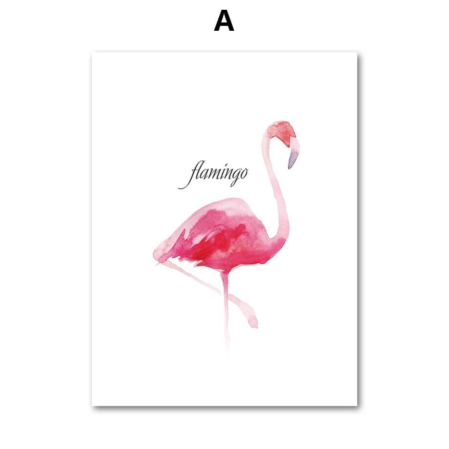 COLORFULBOY Flamingo Wall Art Canvas Slikanje nordijskim plakatima i - Kućni dekor - Foto 2