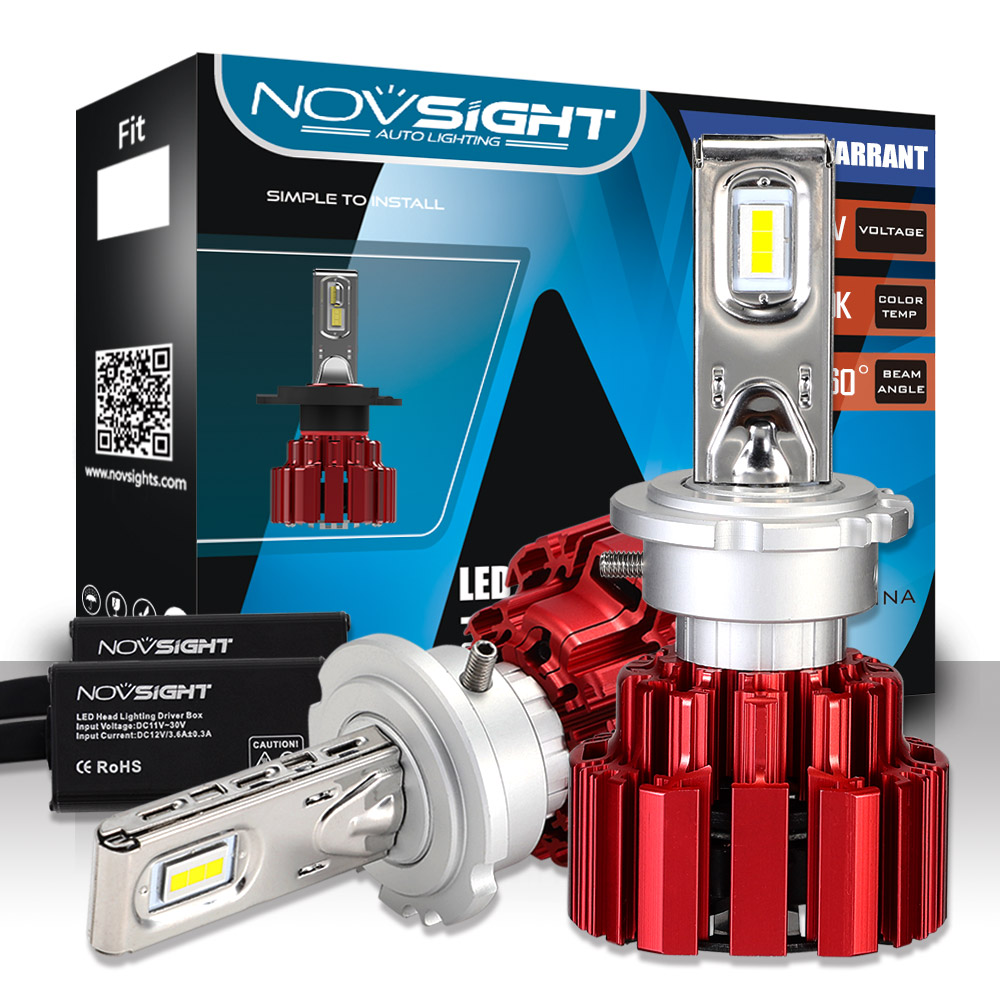 NOVSIGHT D1s D2s D3s D4s D1r phares de LED de voiture 86W 13600LM lampes Automobiles blanches 6000K ampoules antibrouillard