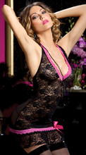 Sex Products Female Valentine Hot Black Sexy Lace Lingerie Sexi Plus Size Sleeping Wear Night Wear Underwear Intimate Lingerie