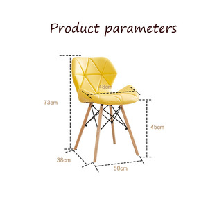 Image 5 - Silla nórdica INS para restaurante, comedor, moderna, de hierro, de madera, cocina, comedor, sofá