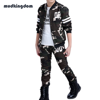 Mudkingdom Kids Big Boys Military Camouflage Outfits Teenagers Outdoor Clothing Sets Kids Baby Boy School Clothes