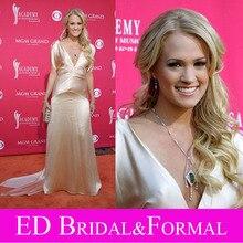 Carrie Underwood 41st ACM Awards Roter Teppich Kleid Vintage Stil Champagner Charmeuse Promi Abendkleid