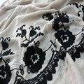 2016 Mulheres bordado Floral Algodão Hijabs Lenços de Viscose de moda bordado hijab muçulmano xales e cachecóis de inverno aconchegante envoltório