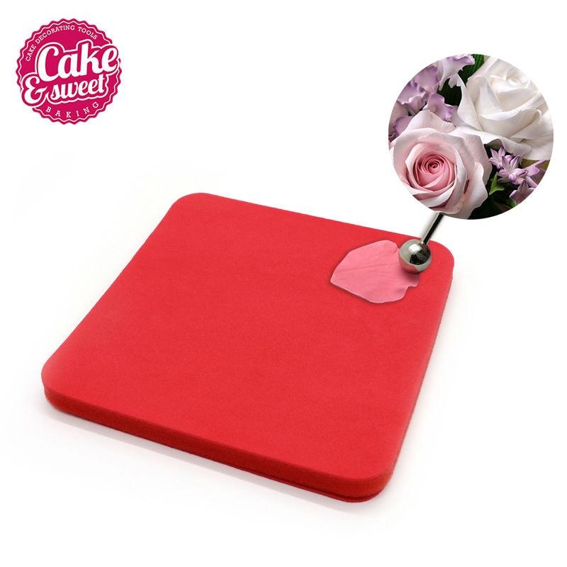 Square Shape Flower Modelling Fondant Cake Foam Pad Sponge Gum Paste Decorating Mat For Flower Making Tool/Baking Pastry Tools tote bag