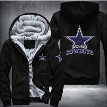 bcc272cdb Dropshipping Men Women Steelers Broncos Cowboys Hoodies Zipper Sweatshirts  Jacket Printed Winter Thicken Hooded(China
