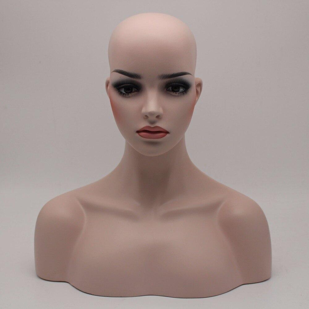 가발 보석 및 모자 디스플레이에 대 한 여성 현실적인 유리 섬유 마네킹 머리 흉상 판매-에서마네킹부터 홈 & 가든 의  그룹 1