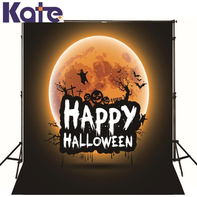 KATE Photography Backdrops Happy Halloween Backdrop Night Sky Moon Photography Backdrops Children Photo Background for Studio