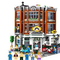 SLPF Children Educational Toys Street View Car Repair Station Compatible Legoing Assembled Model Kit Building Block Brick I35