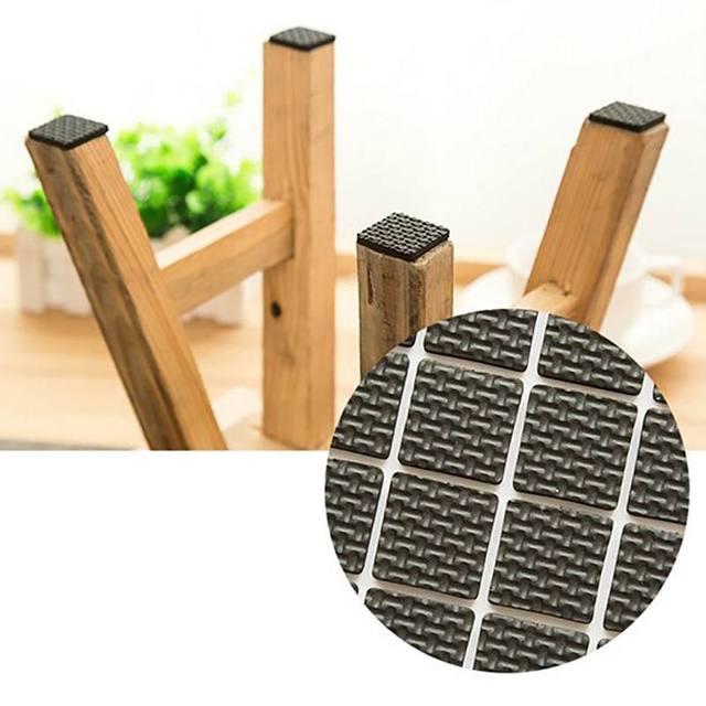 New Multifunction Black Self Adhesive Furniture Table Chair Leg Sofa Feet Floor Non-slip Doormat Sticky Pad Protector