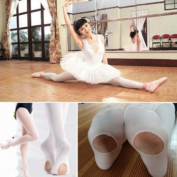Girls Women Convertible Dance Tights Stocking Footed Socks Ballet Pantyhose Flow tights