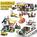 Leisure vacation tour 3 in 1  Building Blocks Racing Car Model Educational DIY Bricks Toys kids boy toy gift lepin