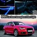 Para Todos Os Car Interior Luz Atmosfera de Sintonia Banda da Fibra Óptica de Luz Ambiente/Porta Interior Fresco Luz de Tira (não luz EL) reequipamento