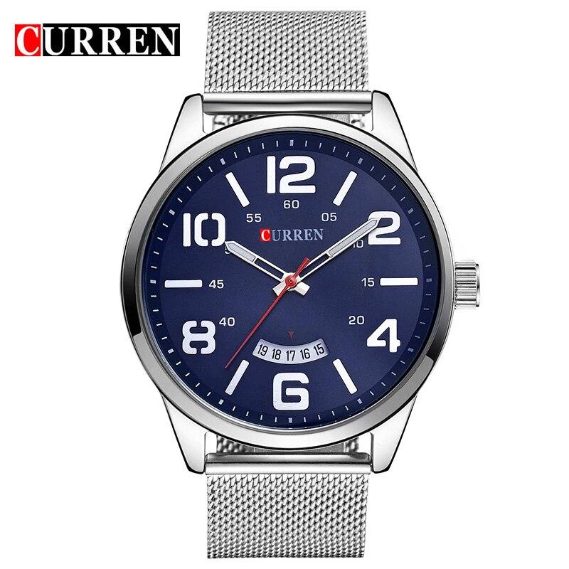 Curren Uhren Männer Top Luxus Edelstahl Armband Quarz Uhren Sport herren Uhr Wasserdicht Relogio Heren Hodinky 8236