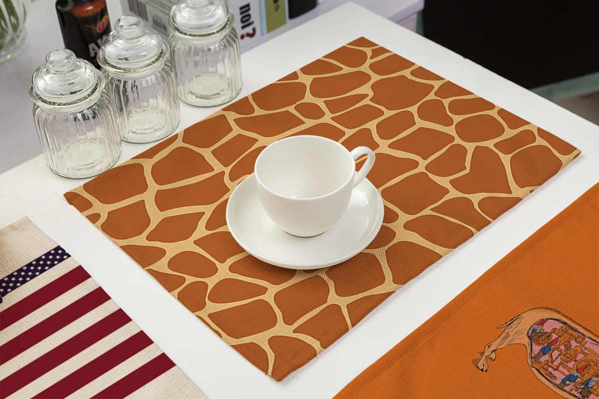 Принт с животными, Стиль бирдекели Коврики на стол для коврики под посуду на стол в виде перьев павлина, с леопардовым принтом, с узором под змеиную кожу «Зебра», с принтом в виде тигра