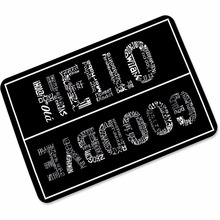 Rubber Anti Slip Doormats Hello Goodbye Door Entry Front Mats Outdoor Entrance Indoor Welcome Home Funny Kitchen Carpets