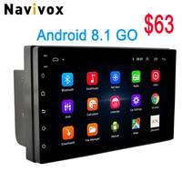 Navivox 2 Din Android 8.1 7 Car GPS Radio Player Car Multimedia GPS DVD Navigation For Nissan VW Toyota Peugeot BYD Kia Hyundai