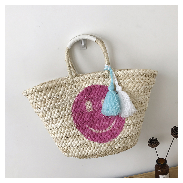Bolsa de compras en Paja Smile