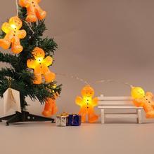 Светодиодный Печенье Мультфильм искусственный свет строка для детей и девочек интерьера