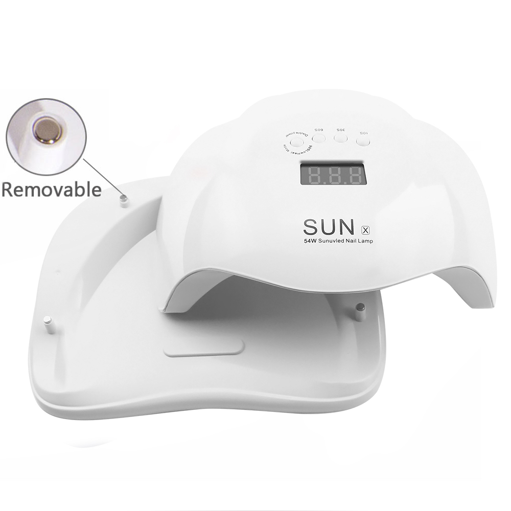 New SUNX 54 48 40 36W UV Led Lamp Nail Dryer For All Types Gel UV Lamp for Nail Machine Curing 10 30 60s Timer Infrared sensor in Nail Dryers from Beauty Health