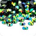 6mm Jelly Esmeralda Color del AB SS30 rhinestones de la Resina cristalina flatback Del Arte Del Clavo, 10,000 unids/bolsa
