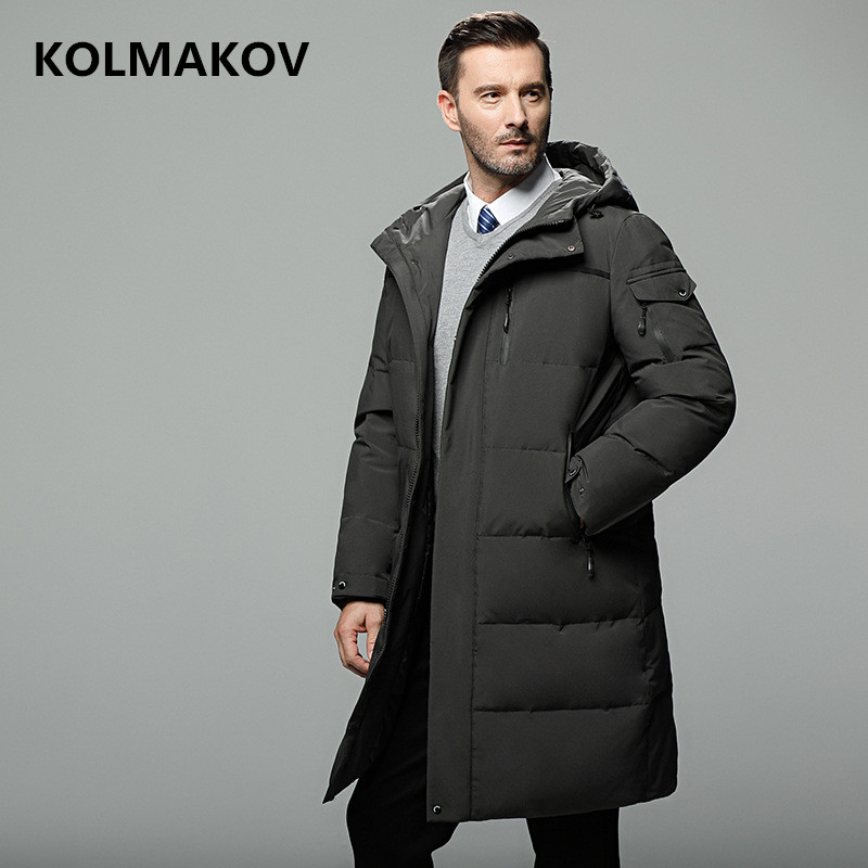 2018 new arrival Casual fashion   Down   Jackets men winter thicken white duck   down   hooded jackets men, men's warm   coat   sizeM to 5XL