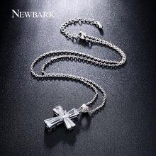 Christian Jewelry Cubic Zircon Cross Pendant Necklace