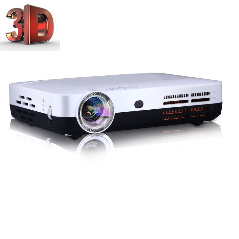 Mini dlp pico led projector 5800 lumens 10000 1 contrast for Dlp micro projector