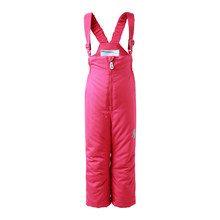 winter girls snow pants 2017 new moomin windproof overall Cotton Geometric Loose Zipper Fly Red waterproof overall winter pant(China)