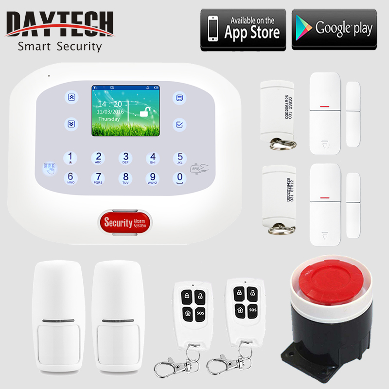 Wireless GSM SMS PSTN Security System Home Burglar Alert Kit Backup Battery APP Control(IOS/Android) LCD Display Panel inbraakalarm sos paniekknop lcd scherm sms panel ios android temperatuurregelaar gsm alarmsysteem k3b