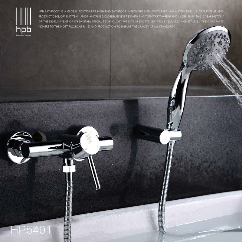 HPB Brass Waterfall Bathroom Hot And Cold Water Bathtub Mixer Shower Faucet torneira banheiro HP5401 shivers 64a hot cold waterfall bathroom bathtub set 3pcs bathtub lavabo ducha torneira plumbing sanitary mixer tap faucet