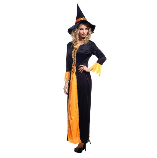 Ladies Purim Brand New adult woman Perfomance dress Halloween witch carnival costume
