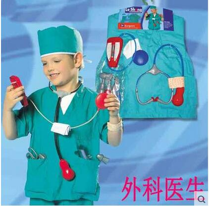 girls boys halloween costumes surgeon sets doctor cosplay stage wear clothing children kids party clothes free - Kids Doctor Halloween Costume