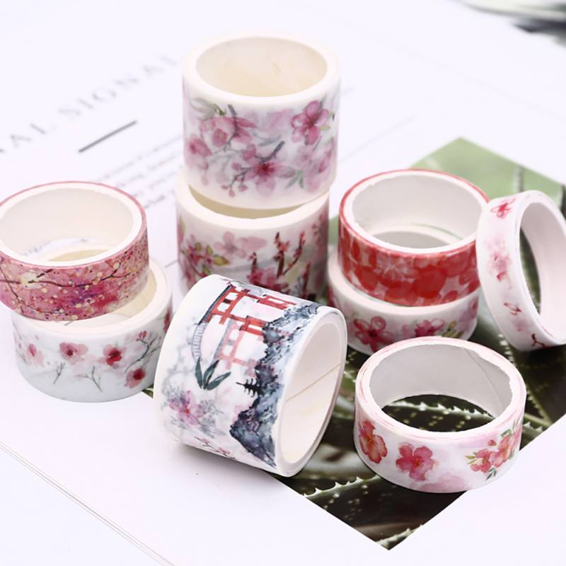 12 Rolls Washi Masking Tape Set Petal Animal Flower Paper Masking Tapes Japanese Washi Tape DIY Scrapbooking Sticker 15mm x 2m image