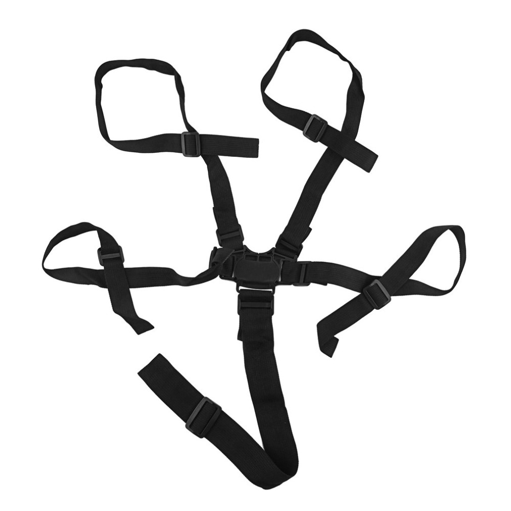 Hot ! Baby 5 Point Adjustable Car Harness Safe Belt Universal Baby Chair Safety Belt High Quality Dining Chair Bandage Seat Belt