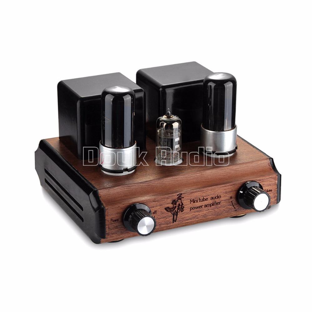 Douk аудио чистый ручной аудиофил мини 6P6P вакуумная трубка HiFi усилитель стерео Встроенный усилитель классическая версия