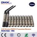 Бесплатная Доставка DHL Wireless DMX Трансляция передатчик и приемник беспроводной пульт dmx512 привело движущихся головного света wireles комплект