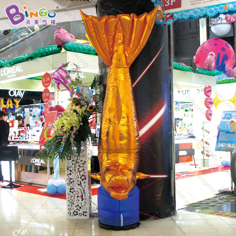 GREAT CRAFT 2.5m inflatable golden dolphin balloon toy /Cylindrical dolphin decoration customized advertising in door decoratingGREAT CRAFT 2.5m inflatable golden dolphin balloon toy /Cylindrical dolphin decoration customized advertising in door decorating