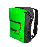 25L Открытый Водонепроницаемый сухой мешок Рулон Топ плавающий рюкзак сумка для плавания для каякинга рафтинг лодочного речной Поход Сумки ...