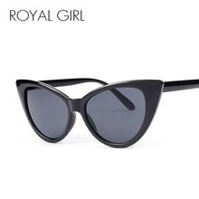 c8086fdb2c0b ROYAL GIRL Fashion Hot Cat Eye Sunglasses Women Retro Inspired Sun Glasses  Men Black Leopard Unisex Shades Oculos UV400 ss048