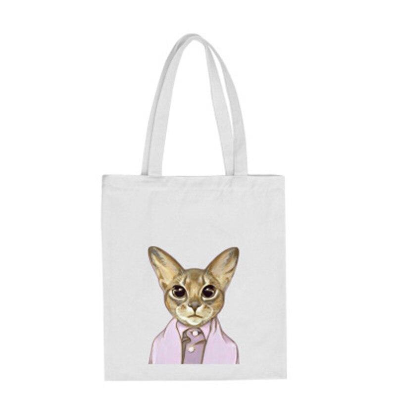 engraçado gato sacolas de lona Ocasião : Versátil