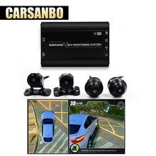 Carsanbo новейшая HD 3D 360 панорамный обзор система вождения поддержка Bird View Panorama система 4 автомобиля камера 1080 P DVR g-сенсор