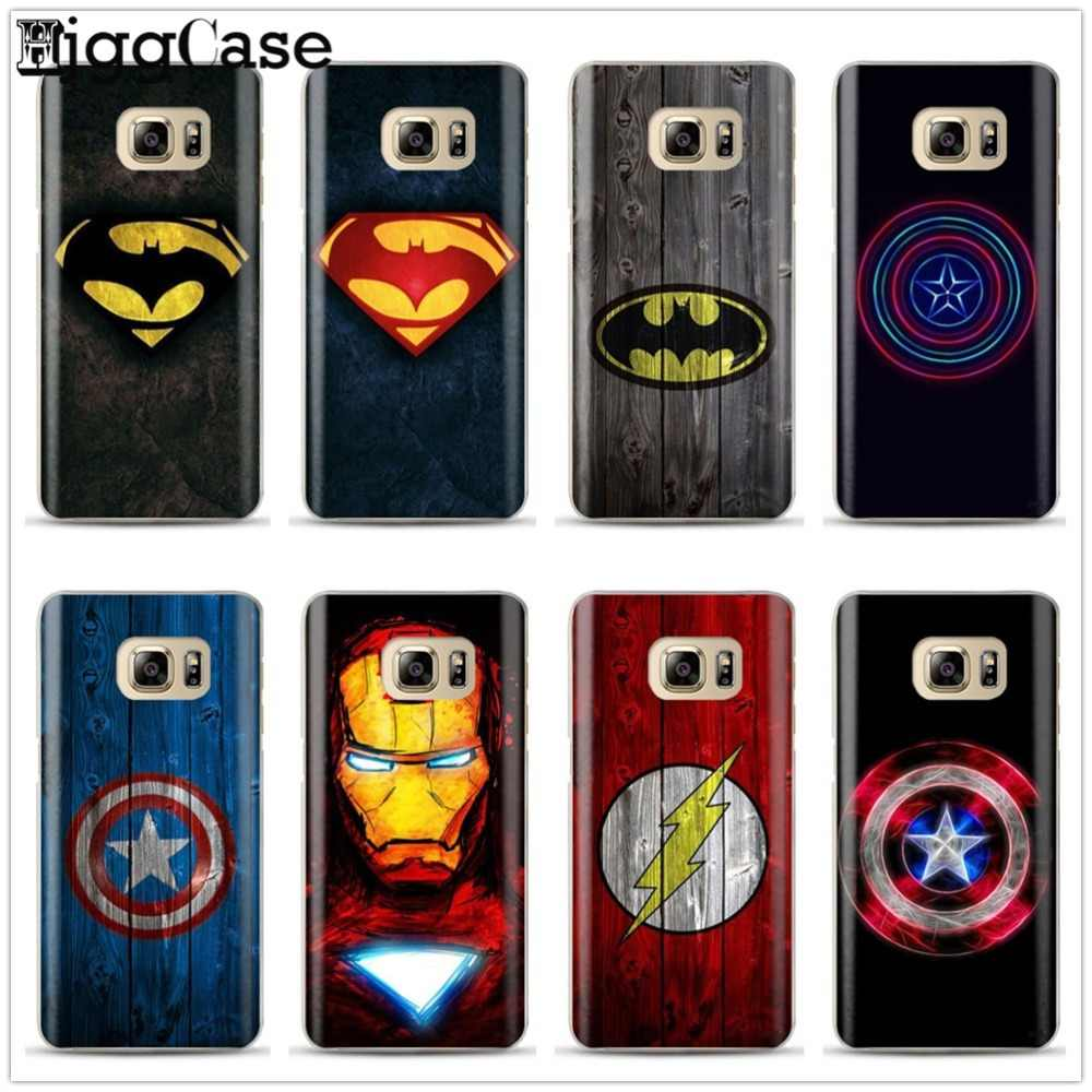 Legal Avengers Marvel Heros Caixa Do Telefone Para Samsung Galaxy S6 S7 Borda S8 S9 plus J3 J5 J6 J7 A3 A5 A6 A7 2016 2017 A8 plus 2018