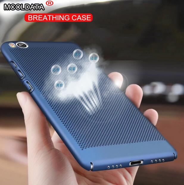 buy popular 90f68 38b49 US $2.55 |Xiaomi mi5s case mi5s plus cover , 3000 holes heat dissipation  Cooling breathing Back cases hard plastic luxury for M5S 5s Plus-in Fitted  ...