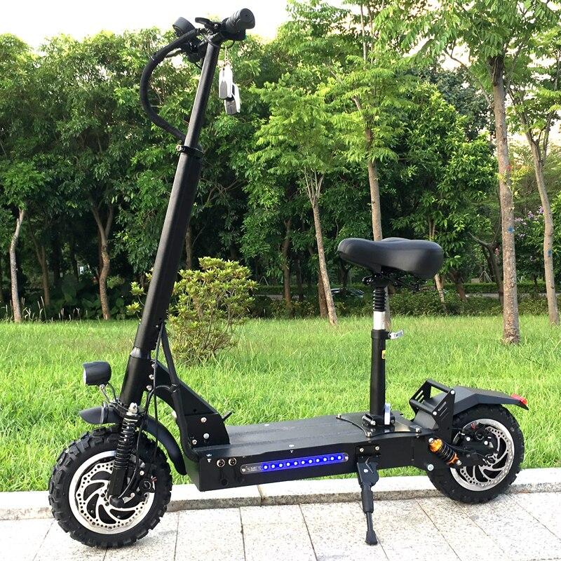 Flj adulte Scooter électrique avec 60 v/3200 w forte puissance coup de pied Scooter gros pneu grande roue Scooters électriques adultes avec frein à huile
