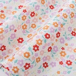 Image 5 - Комплекты летней одежды для детей Dave bella, милые детские комплекты с цветочным принтом, одежда высокого качества для новорожденных, одежда для девочек, DBA6585