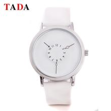 3ATM imperméable à l'eau TADA Véritable bracelet En Cuir Montre Femmes robe de platine spéciale temps horloge Casual Quartz montre relogio relojes
